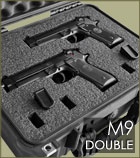 Double m9 pistol carrying case