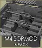 M4 SOPMOD 6 Pack Case