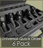 quick draw universal handgun 6 pack case