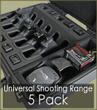 Shooting Range Handgun Cases 5 Pack