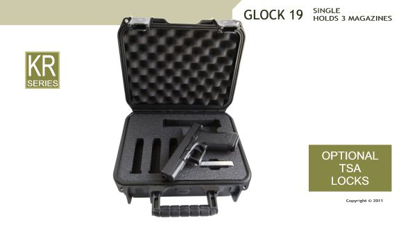Glock 19 Pistol Case For Carrying Or Storage Casecruzer