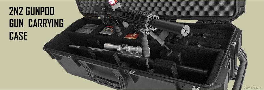 universal gun case holds two rifles or shotguns and two handguns