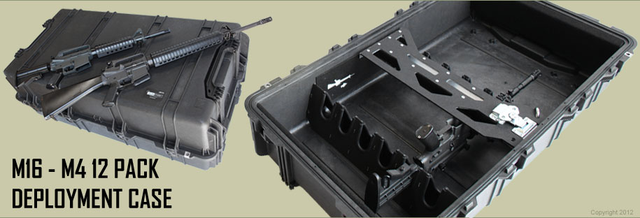 M16 Rifle Case - 12 Pack