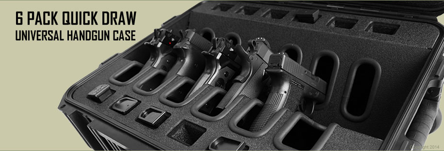 universal quick draw handgun case holds 6 hand guns