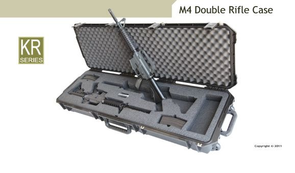 Guncruzer M4 Double Rifle Gun Case